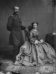 Author photo. Libby Custer with her husband, Gen. George A. Custer, taken during the Civil War