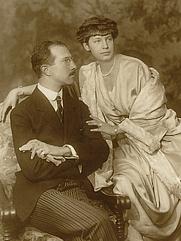 Author photo. Wikipedia, Prince Adalbert of Bavaria with Countess Auguste von Seefried auf Buttenheim, Munich 1919