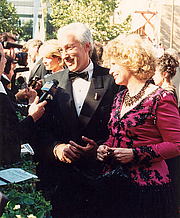Author photo. 1994 Emmys with wife Barbara Bosson (photo credit: Alan Light)