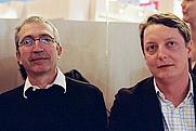 Author photo. Michel Eltchaninoff (on right) Raphaël Labbé - leafar