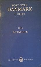 Kort Over Danmark 1 100000 1812 Bornholm By Geodaetisk Institut