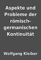 Aspekte und Probleme der…