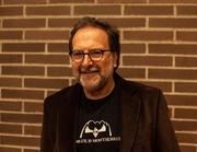 Author photo. Celdoni Fonoll a la presentació Ales i pètals, 18 de novembre de 2013