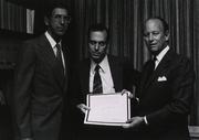 Author photo. Solomon Snyder (center, National Institutes of Medicine)