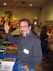 Author photo. Comic book writer Roger Stern at Ithacon 35, Part II, a semi-annual comic book conventions put on by the Comic Book Club of Ithaca (CBCI) in Ithaca, NY, 2010 [credit: Alexander Fuld Frazier]