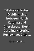 Historical Notes: Dividing Line between…