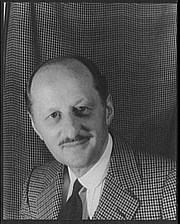 Author photo. Frank Case, 1933. Photo by Carl Van Vechten. (Library of Congress Prints and Photographs Division)