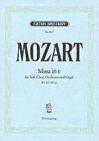 Missa In C - Mozart - BREITKOPF & HARTEL -…