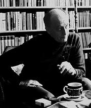Author photo. André Bjerke (ca. 1980)<br> Photo: André Savik