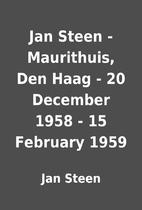 Jan Steen - Maurithuis, Den Haag - 20…