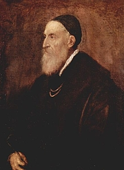 Author photo. Tiziano Vecelli or Vecellio (c. 1488-90–1576), better known as Titian. Self-portrait, circa 1567 (The Yorck Project)