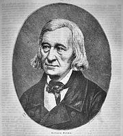 """Author photo. Wilhelm Grimm c.1858 from; Die Gartenlaube - Illustrirtes Familienblatt (a successful mass-circulation German newspaper and """"modern"""" magazine)"""
