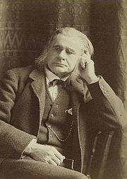 """Author photo. """"Professor Huxley. F.R.S.""""<br>Courtesy of the <a href=""""http://digitalgallery.nypl.org/nypldigital/id?1158408"""">NYPL Digital Gallery</a><br>(image use requires permission from the New York Public Library)"""