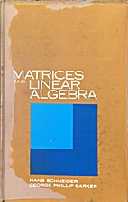 Matrices and linear algebra by Hans…