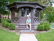 Author photo. David H Fears at Mark Twain's study, now on the campus of Elmira College. Sept. 2009