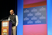 """Author photo. At the 2016 National Book Festival, on September 24, 2016 in Washington, DC, Salman Rushdie spoke. By Geraldshields11 - Own work, CC BY-SA 4.0, <a href=""""https://commons.wikimedia.org/w/index.php?curid=51988183"""" rel=""""nofollow"""" target=""""_top"""">https://commons.wikimedia.org/w/index.php?curid=51988183</a>"""