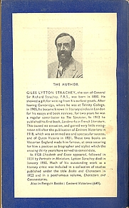 Author photo. Scan of back cover of Penguin book No.767 (pub.1950)