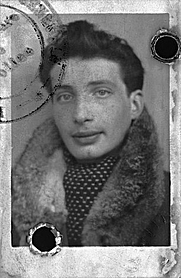 Author photo. 1943 French ID/passport photo of Édouard Boubat
