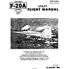Northrop F-20A aircraft flight manual by…