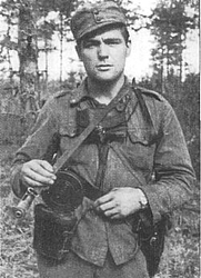 Author photo. Harry Järv on a recon mission behind enemy lines in 1942