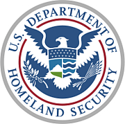 Author photo. Seal of the United States Department of Homeland Security.