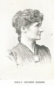 Author photo. Emily Mulkin Bishop (1858-    ) 