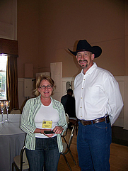 Author photo. Melanie Bowles (on left).  Taken by David Quinn,  April 20, 2007