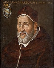 Author photo. Pope Clement VIII / Wikipedia