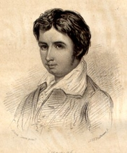 Author photo. Leigh Hunt at an early age. Frontispiece of the book, Men, women and Books, by Leigh Hunt, published in 1847.