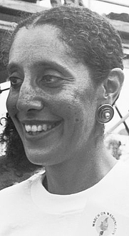 """Author photo. """"Lani Guinier at the 30th anniversary of the Poor People's March on Washington D.C."""" by Wikipedia user Smalagodi."""