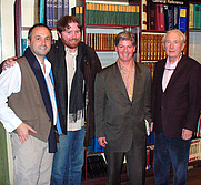 Author photo. Colum McCann, Christy Kelly, Christopher Cahill and Frank McCourt at New York City's Housing Works bookstore for a tribute to recently-deceased Irish poet Benedict Kiely. By David Shankbone - David Shankbone, <a href=&quot;https://commons.wikimedia.org/w/index.php?curid=1819459&quot; rel=&quot;nofollow&quot; target=&quot;_top&quot;>https://commons.wikimedia.org/w/index.php?curid=1819459</a>
