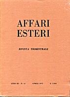 Affari Esteri : Rivista Trimestrale, Anno…