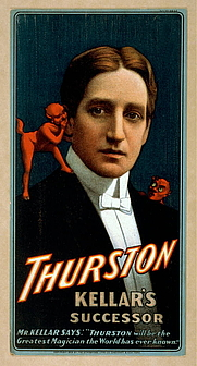Author photo. Theatrical poster, 1908 <br>(Magic Poster Collection, <br>LoC Prints and Photographs Division, <br>LC-USZC4-13437)