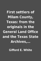First settlers of Milam County, Texas: from…