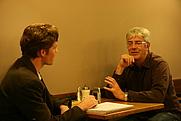 """Author photo. Shaun Micallef interviewed for RMIT University's """"Catalyst"""" Magazine by David M. Green on 31 March 2010. Photo by Ben Hagemann."""