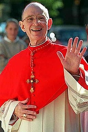 "Author photo. Joseph Cardinal Bernardin (1928-1996), Archbishop of Cincinnati (1972-1982) and Chicago (1982-1996). By Source, Fair use, <a href=""https://en.wikipedia.org/w/index.php?curid=27155601"" rel=""nofollow"" target=""_top"">https://en.wikipedia.org/w/index.php?curid=27155601</a>"