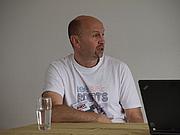 Author photo. Photo by Wikipedia user JIP. Simon Furman doing a presentation speech at NTFA NordCon 2010 in Aalborg, Denmark.