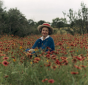 Author photo. LBJ Library Photo by Frank Wolfe, May 10, 1990, Texas Hill County