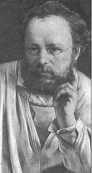 """Author photo. From <a href=""""http://en.wikipedia.org/wiki/Image:Pierre_Joseph_Proudhon.jpg"""">Wikimedia Commons</a>, Gustave Courbet."""