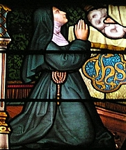 Author photo. Detail of Stainglass Window, Hombourg, France.  Photo by Norbert Schnitzler / Wikimedia Commons.