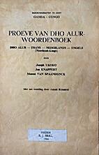Proeve van Dho Alur-woordenboek Dho Alur -…