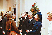 Author photo. White House Photo Office (Public Domain), Carol Thatcher is far left