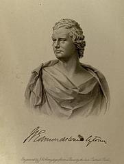 Author photo. William Edmondstoune Aytoun engraved by J.C. Armytage from a bust by Patrick Park. Frontispiece from Memoir of William Edmondstoune Aytoun (1867).