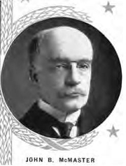Author photo. John B. McMaster. Frontispiece (cropped) from Great epochs in American history : described by famous writers from Columbus to Roosevelt (1912)