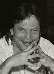 """Author photo. Sweden, March 1985,<br> promoting 'Brazi""""<br> (Credit: wikipedia user Towpilot)"""