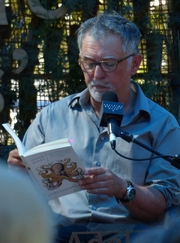 "Author photo. Peter Godfrey-Smith reads from his book ""Other Minds"" at Adelaide Writers Week 2018"