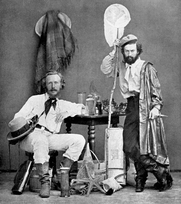 Author photo. Haeckel (left) with his assistant in the Canaries; 1866