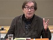 Author photo. Antoine Faivre en 2018 lors d'une conférence sur 'Carl Friedrich Tieman, illuministe et cosmopolite du XVIIIème siècle'