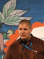 """Author photo. Adam Johnson at the National Book Festival By slowking - Own work, GFDL 1.2, <a href=""""https://commons.wikimedia.org/w/index.php?curid=28489411"""" rel=""""nofollow"""" target=""""_top"""">https://commons.wikimedia.org/w/index.php?curid=28489411</a>"""