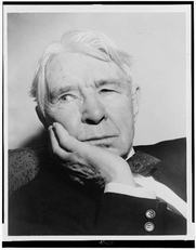 Author photo. Carl Sandburg (1878-1967)<br> Photograph by New York World-Telegram & Sun <br>staff photographer, Al. Ravenna, 1955 <br>(Library of Congress Prints and Photographs Division)